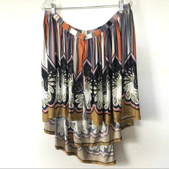 Topshop Dresses & Skirts - TopShop Womens Skirt Size 10 Peacock Print Wrap